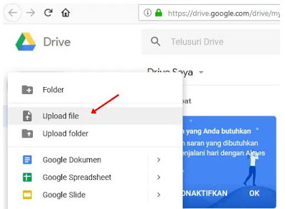 upload file googe drive