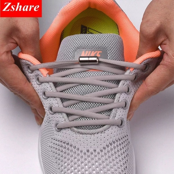 Kids and Adult Sneakers Shoelace Quick Lazy Laces 21 Color Shoestrings