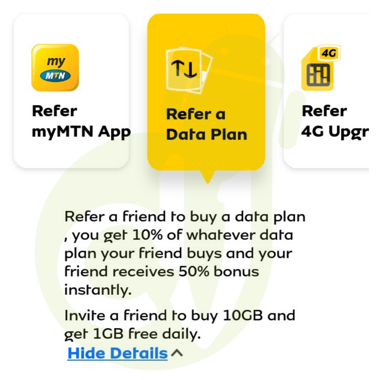 MyMTNApp referral free 4gb
