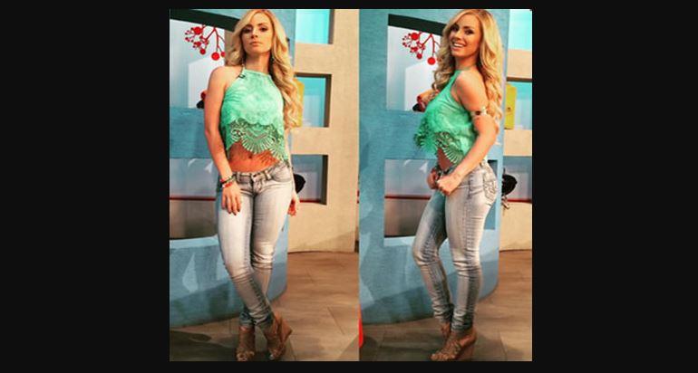Natalia Rivera en conjunto de blusa