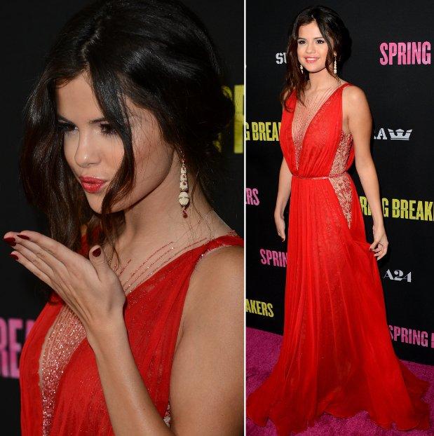Selena Gomez Braided Updo Spring Breakers Premiere Hairstyle Krazy