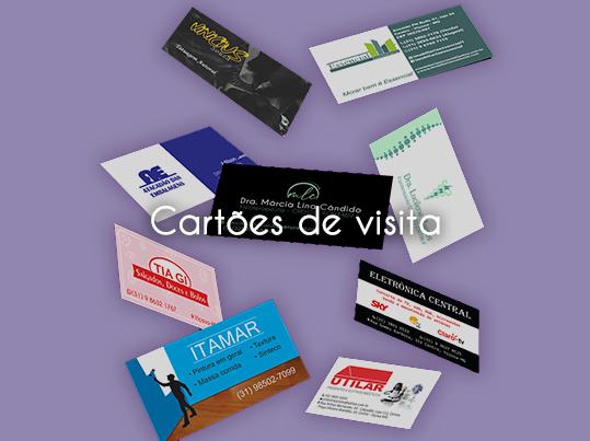 Cartões de visita - arte e impressão