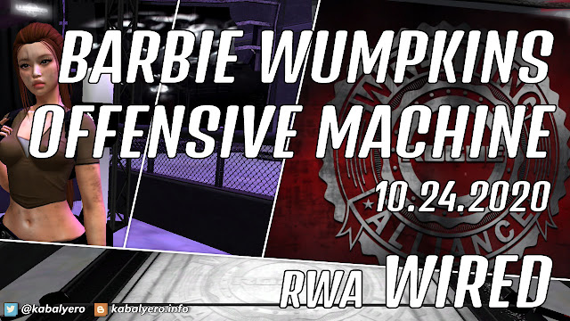 Victory vs Barbie Wumpkins • RWA WIRED (10.24.2020) Second Life Wrestling