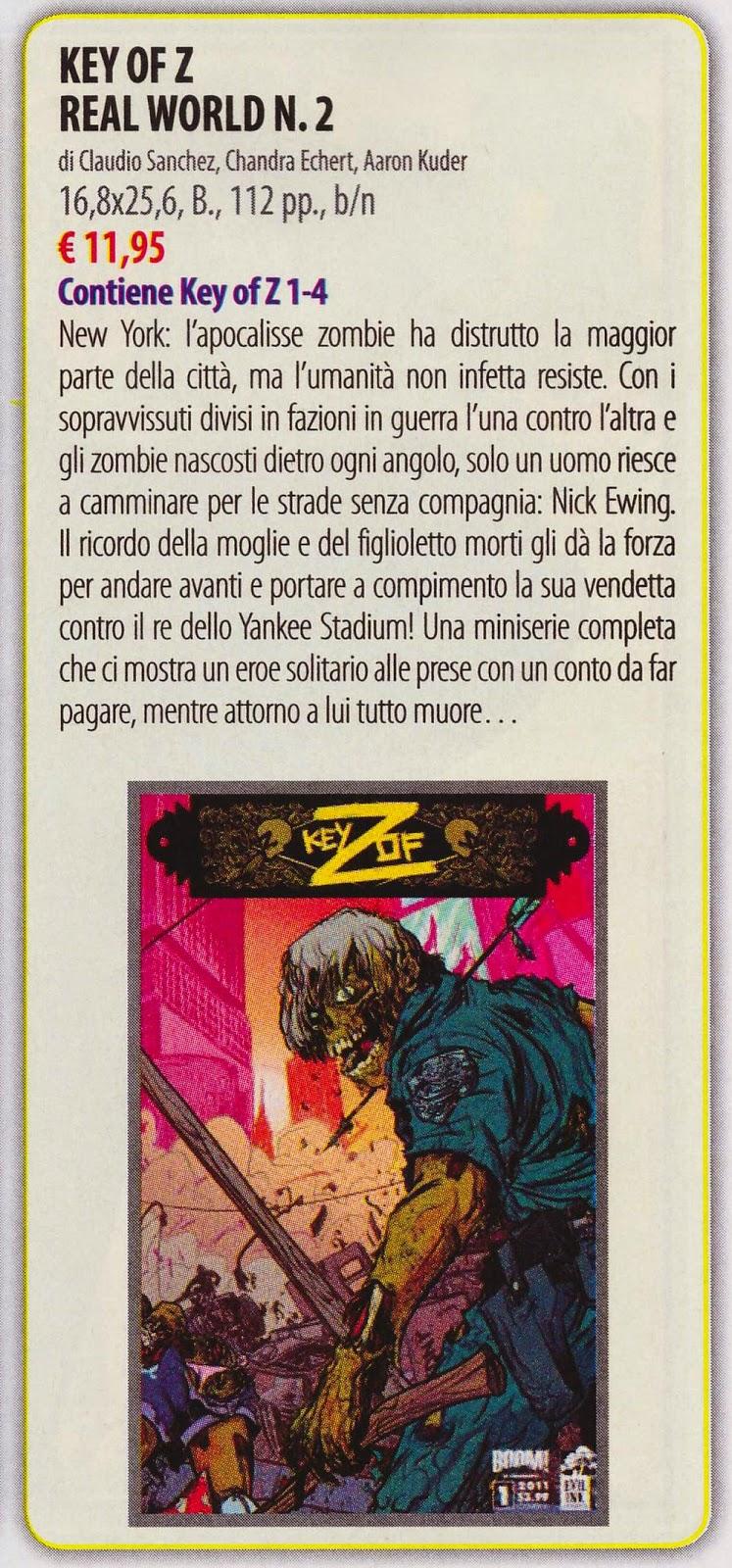 Key of Z (Anteprima #281)