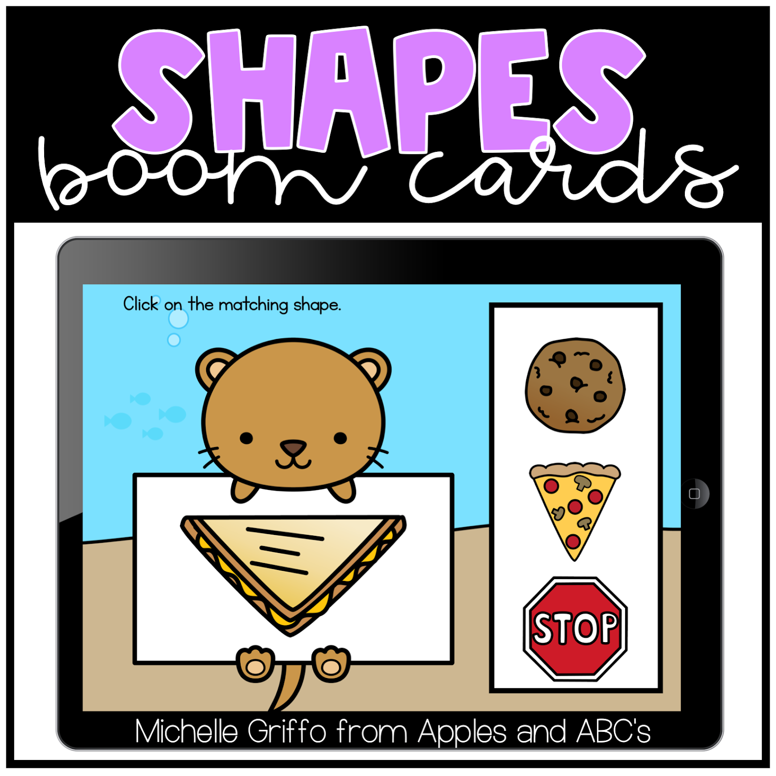 Kindergarten Morning Work / Digital and Paper for Distance Learning -  Apples and ABC's [ 1600 x 1600 Pixel ]