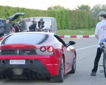 Lorsqu'on voit une Ferrari à la ligne de départ face à une bicyclette, on s'attend que c'est une blague.