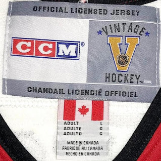 NHL Vintage Collection jersey 2002 or later - inside the neck label - 2