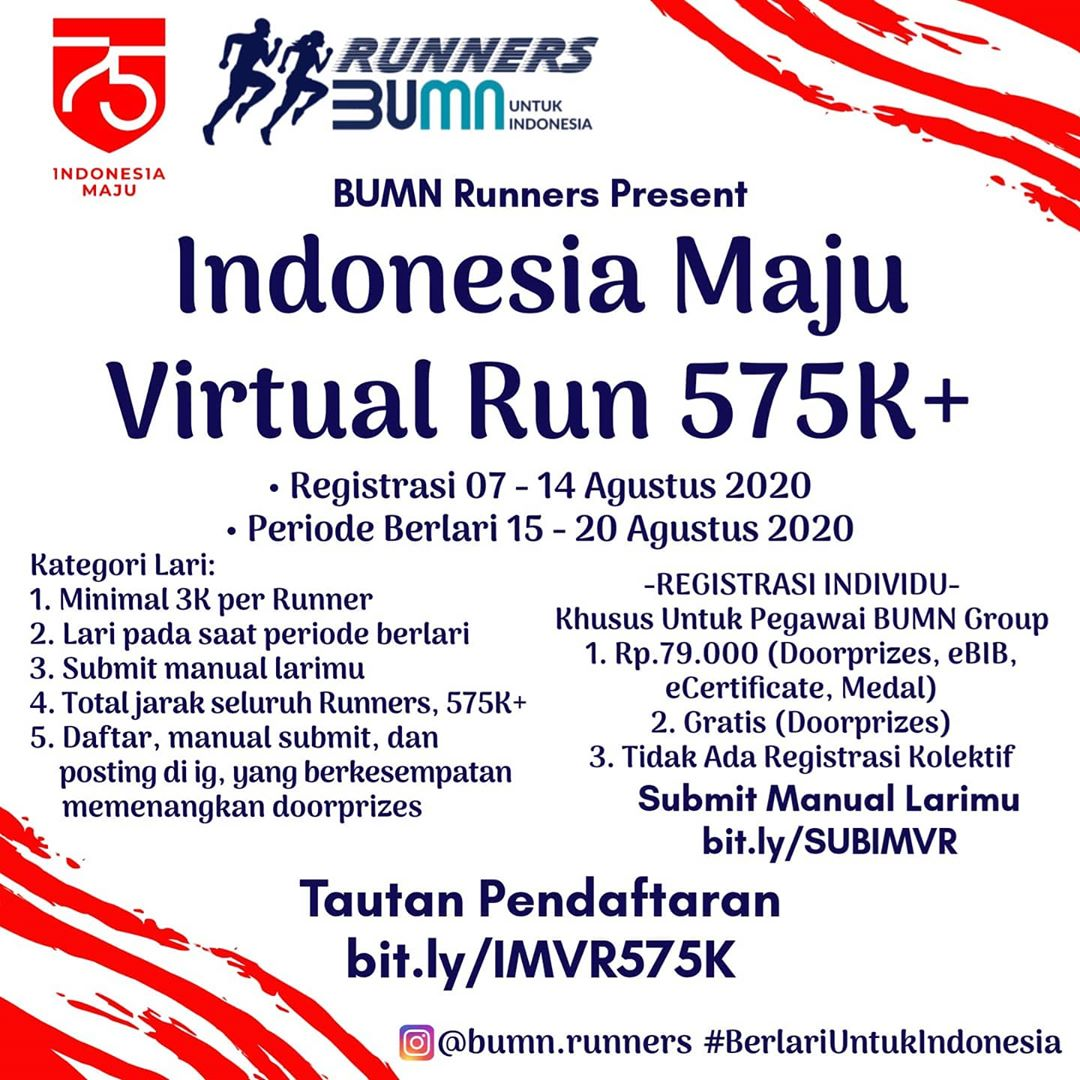 Indonesia Maju Virtual Run 575K+ • 2020