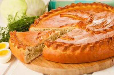 Постный пирог с капустой быстро и просто