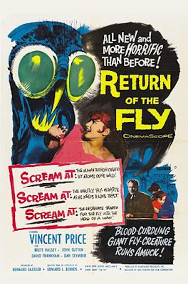 Original poster art for RETURN OF THE FLY!