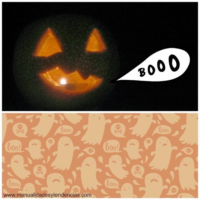 DIY Halloween naranja portavelas / Halloween orange candle holder / Orange photophore pour Halloween