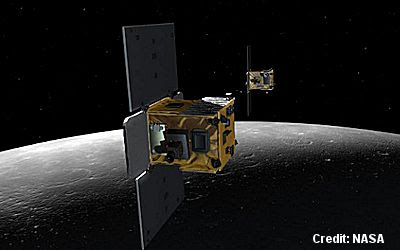 NASA Crashes Twin Spacecraft Into Moon - Artist's Depiction 12-17-12