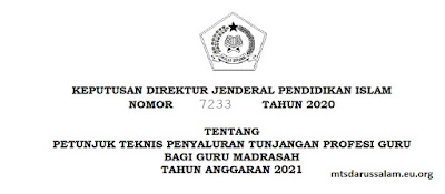 Juknis Penyaluran TPG Bagi Guru Madrasah Tahun Anggaran 2021