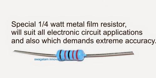1/4 watt resistor MFR 1%