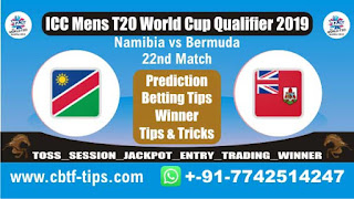 Who will win Today, ICC Men's WC T20 Qualifier 2019, 22nd T20 Match NAM vs BER
