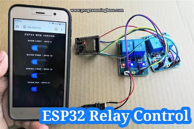 ESP32 Webserver Relay Module control