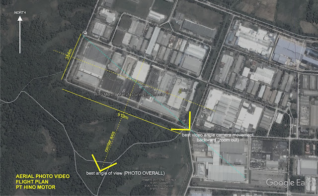 Contoh Flight Plan Foto Udara Pabrik