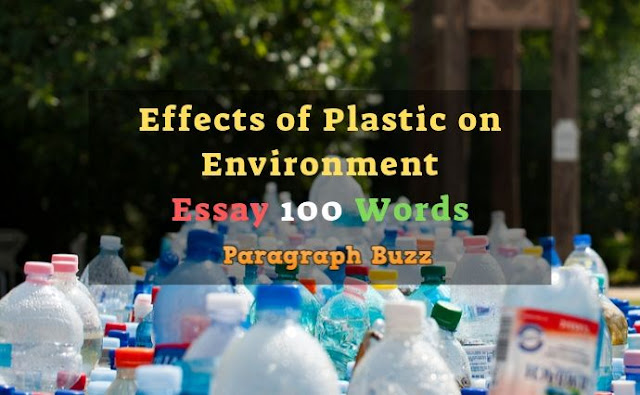 Effects of Plastic on Environment Essay 150 Words
