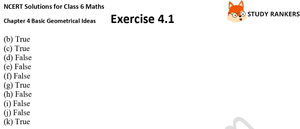NCERT Solutions for Class 6 Maths Chapter 4 Basic Geometrical Ideas Exercise 4.1 Part 4
