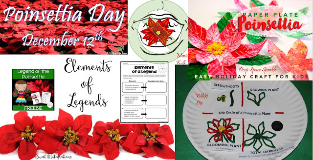 Celebrate poinsettias in your classroom with one of these ideas.