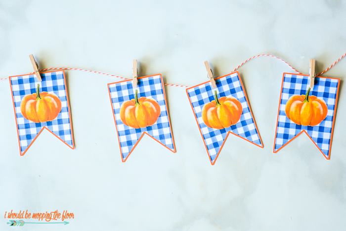 Pumpkin Banner Printable