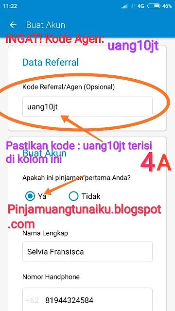 Ajukan Pinjaman uang tanpa jaminan di Tunaiku dengan Kode Agen uang10jt