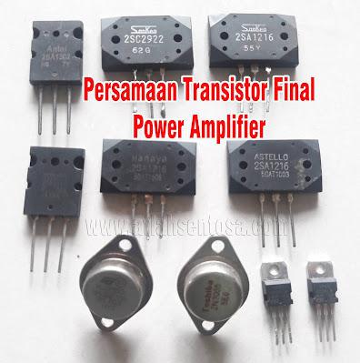 Persamaan Transistor Final Power Amplifier