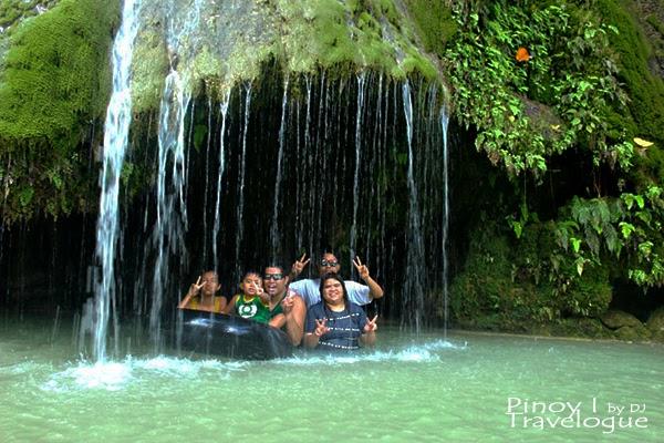 Small cave at the foot of Batlag Falls