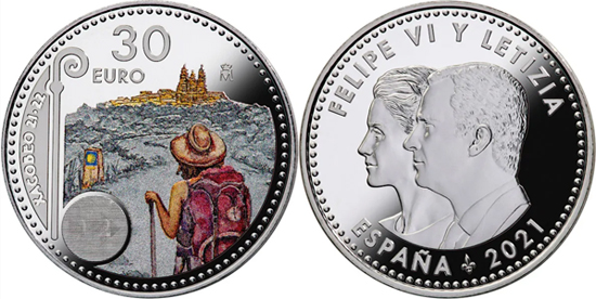 Spain 30 euro 2021 - Xacobeo 2021-2022