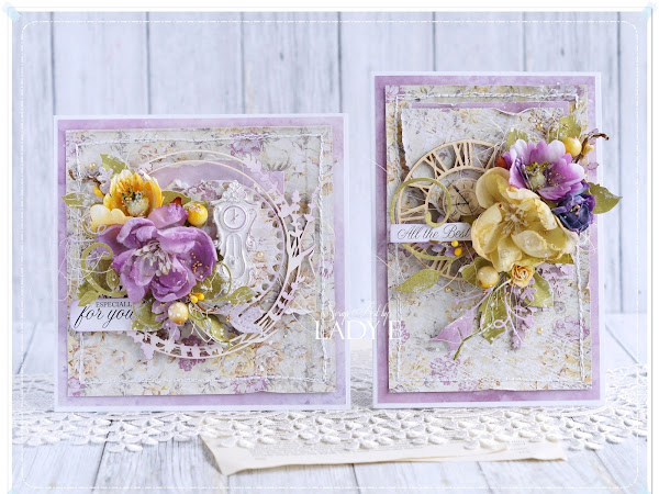 Mustard & Lavender Cards