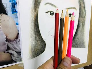 วิธีวาดภาพเหมือนด้วยสีไม้
