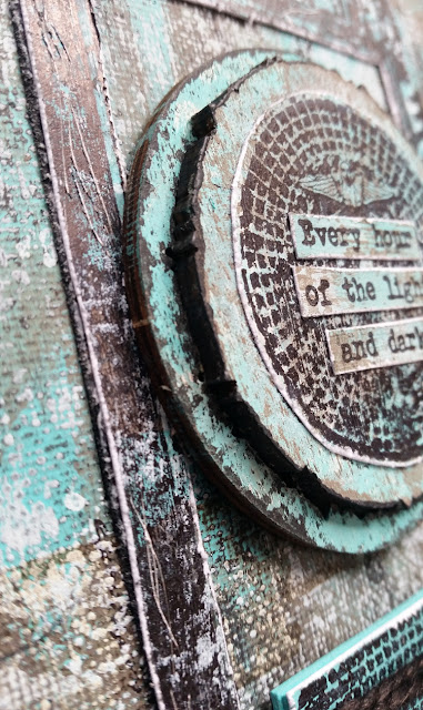 Canvas featuring Seth Apter / PaperArtsy ESA05, Wood Chips and Fresco Chalk Paints - by Nikki Acton