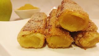 Rulos de compota de manzana