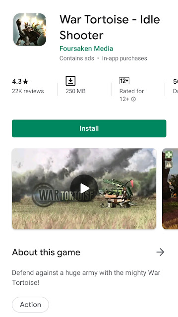 War tortoise : Best android games 2020