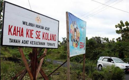 Pihak Kesultanan Ternate melarang pelaksanaan kegiatan proyek tempat wisata yang dilakukan Adam Marsaoly di kawasan Jikomalamo. Larangan tersebut karena tanpa ada surat persetujuan secara resmi dari pihak Kesultanan Ternate. Foto: Malut Post/JPNN.com