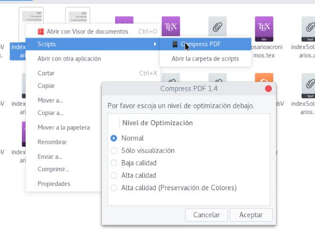 Reducir el tamaño de un PDF en Fedora