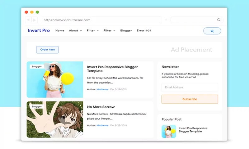 Invert Pro Responsive Blogger Template - Responsive Blogger Template