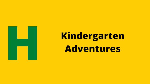 HackerRank Kindergarten Adventures problem solution