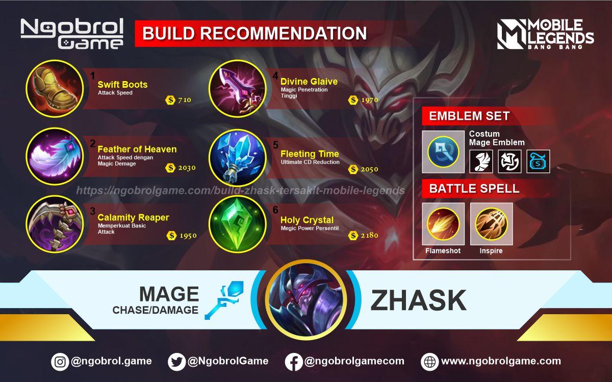 Build Zhask Savage Mobile Legends