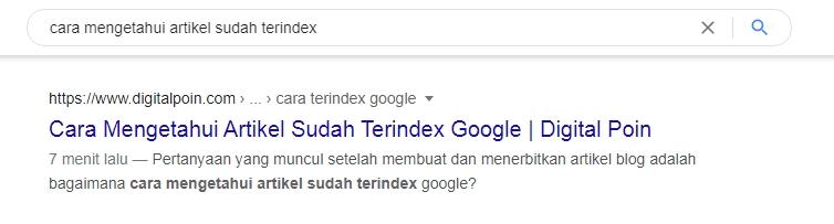 Cara Cek Artikel Terindex Google