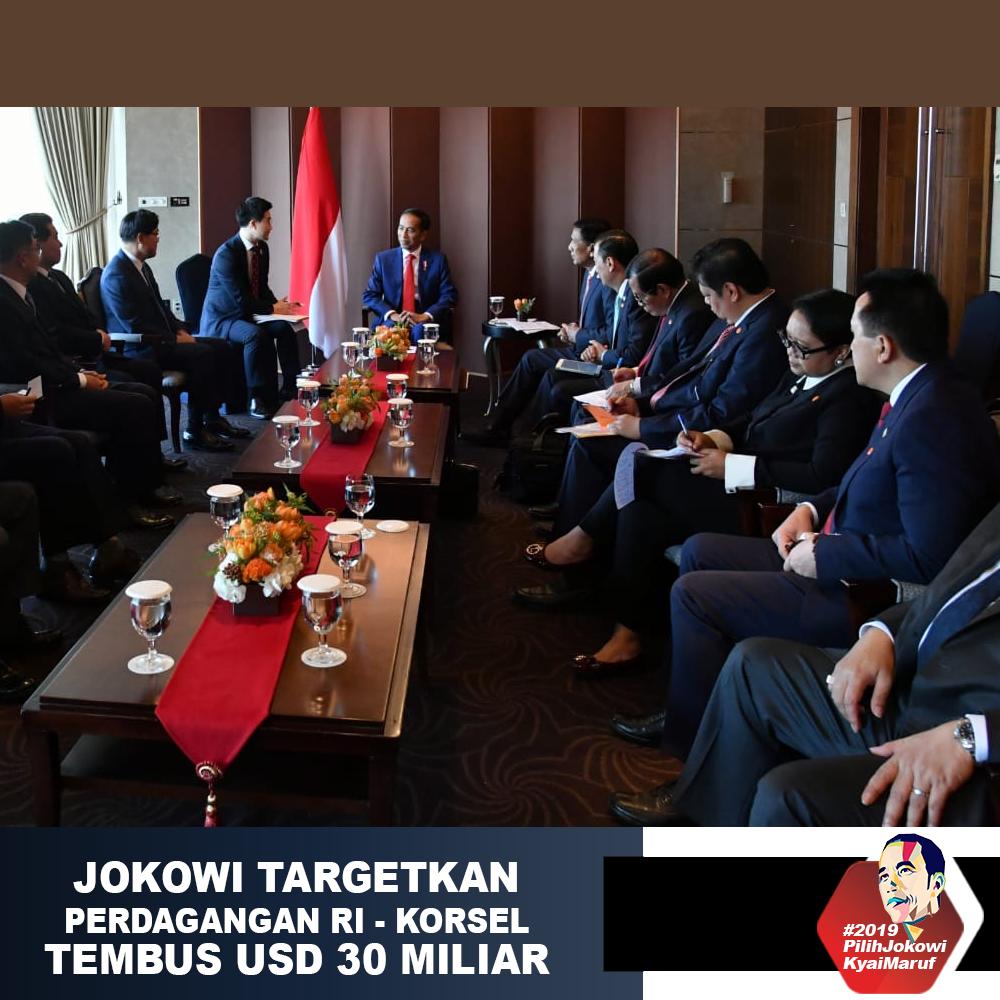 Jokowi Targetkan Perdagangan RI - Korsel Tembus USD 30 Miliar