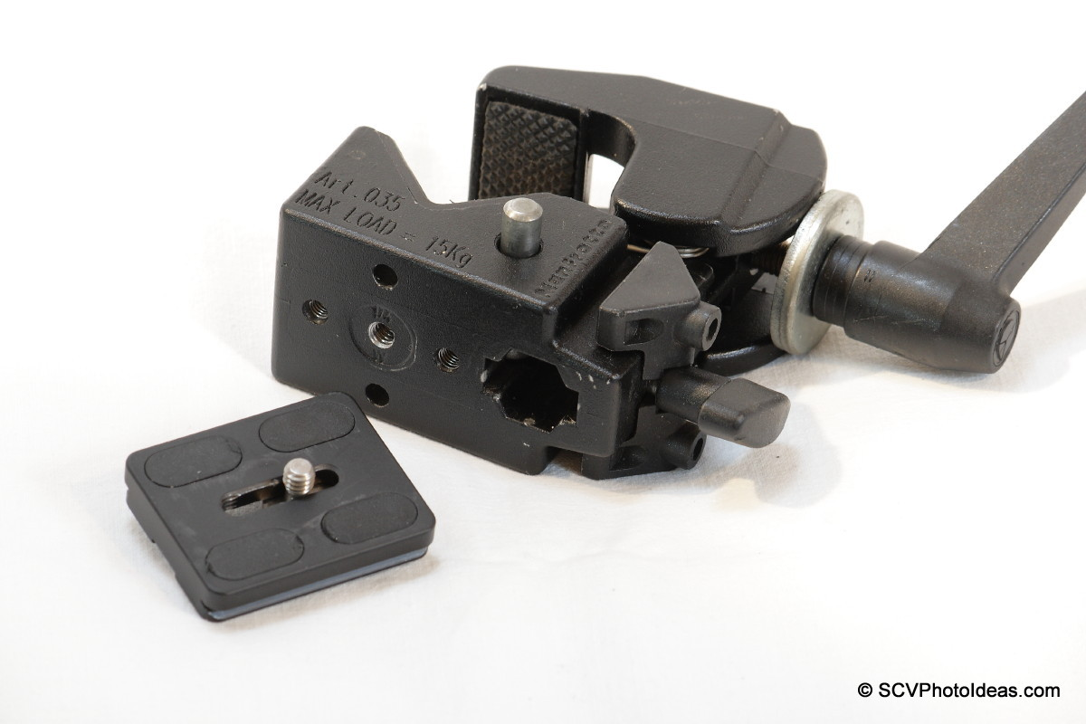Manfrotto Super Clamp 35 + Marumi Arca plate