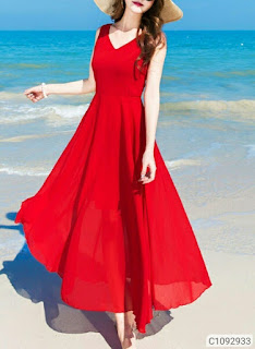 Women's Solid Georgette Dresses