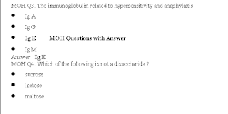 MOH Question Answers for Nurses