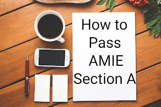 How to pass Amie Section A