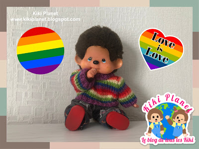 kiki monchhichi mois fierté gay lgbt+ pride month handmade fait main tricot
