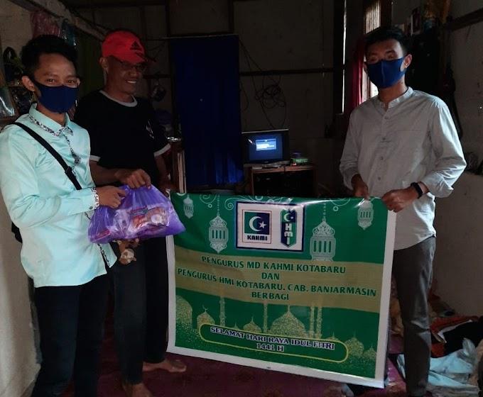 HMI dan KAHMI Berbagi Sembako di Kotabaru