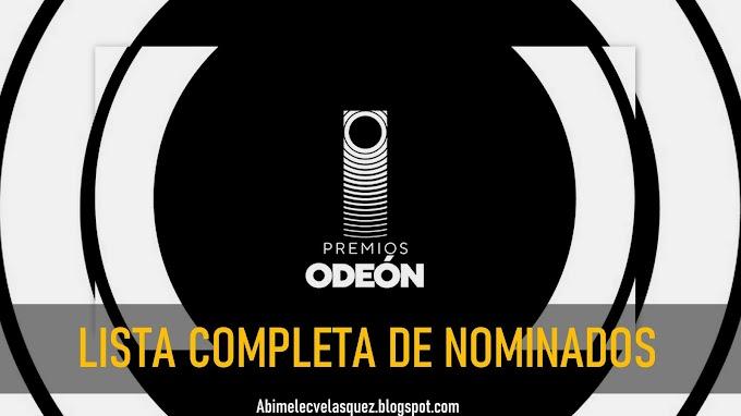 LISTA COMPLETA DE NOMINADOS A LOS PREMIOS ODEÓN 2021