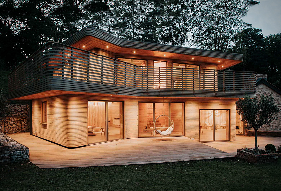 Uma Ex Tica Casa De Madeira Design Innova