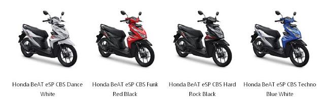 Harga Honda Beat Tipe eSP CBS